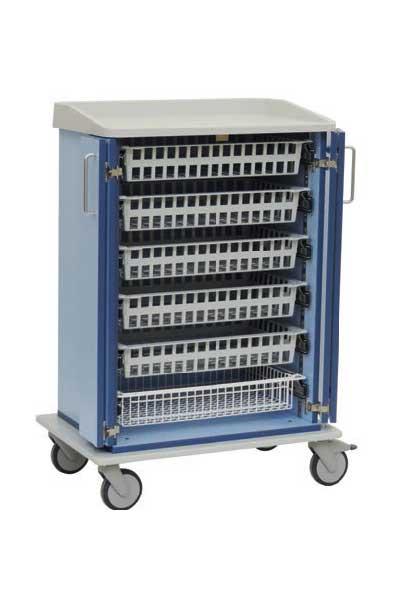 Hoge modulewagen voor ISO-trays